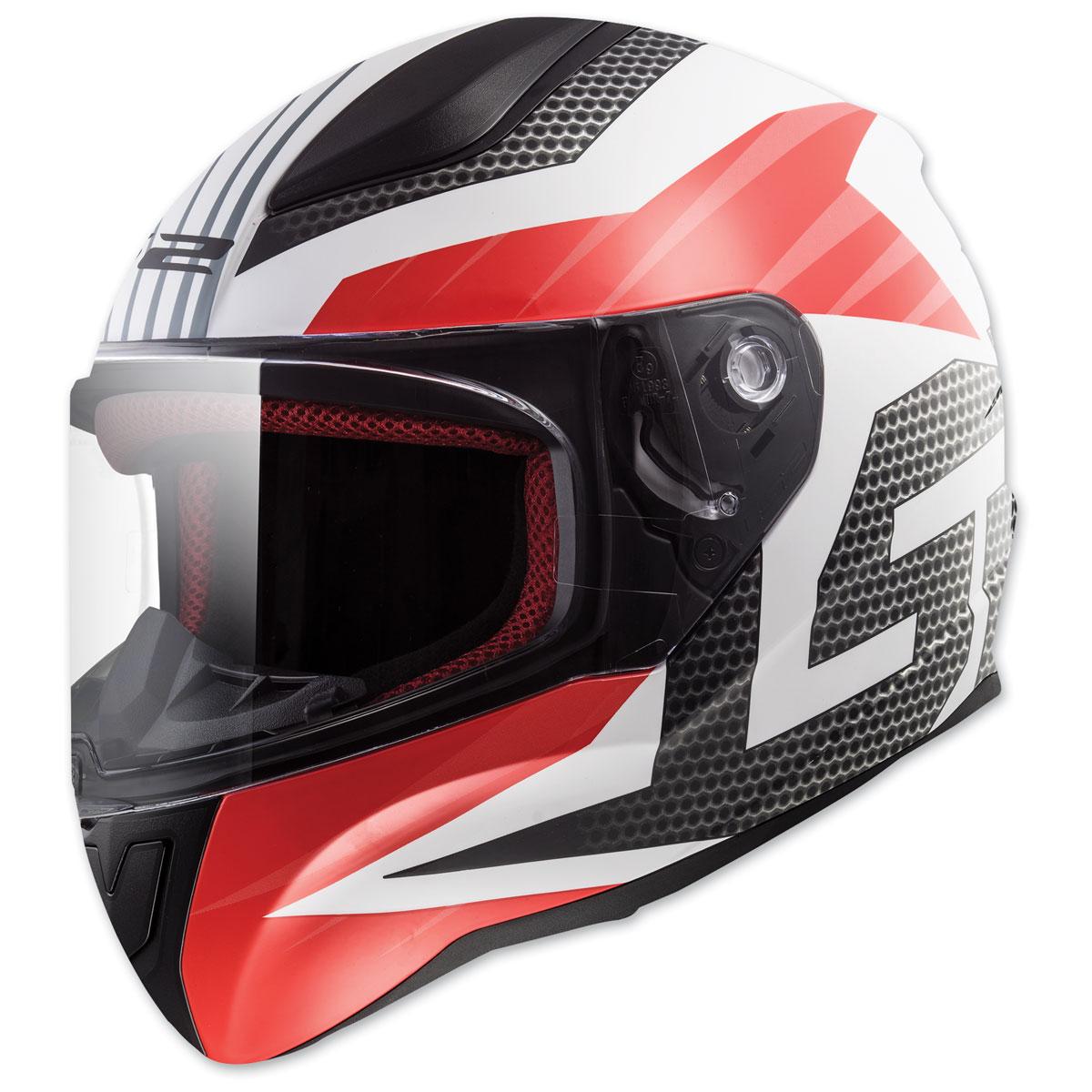 LS2 Rapid Grid White Full Face Helmet