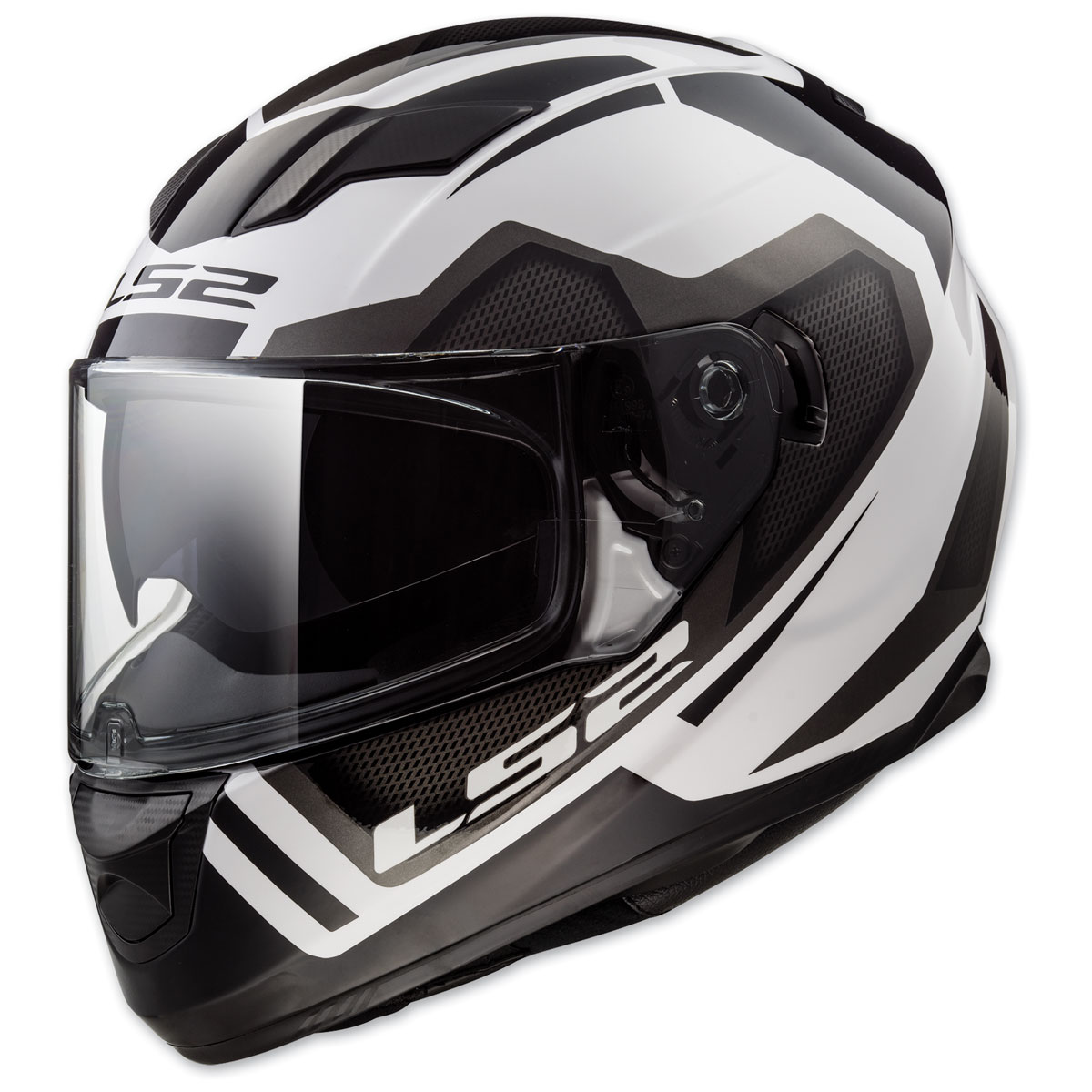 LS2 Stream Axis White/Silver Full Face Helmets