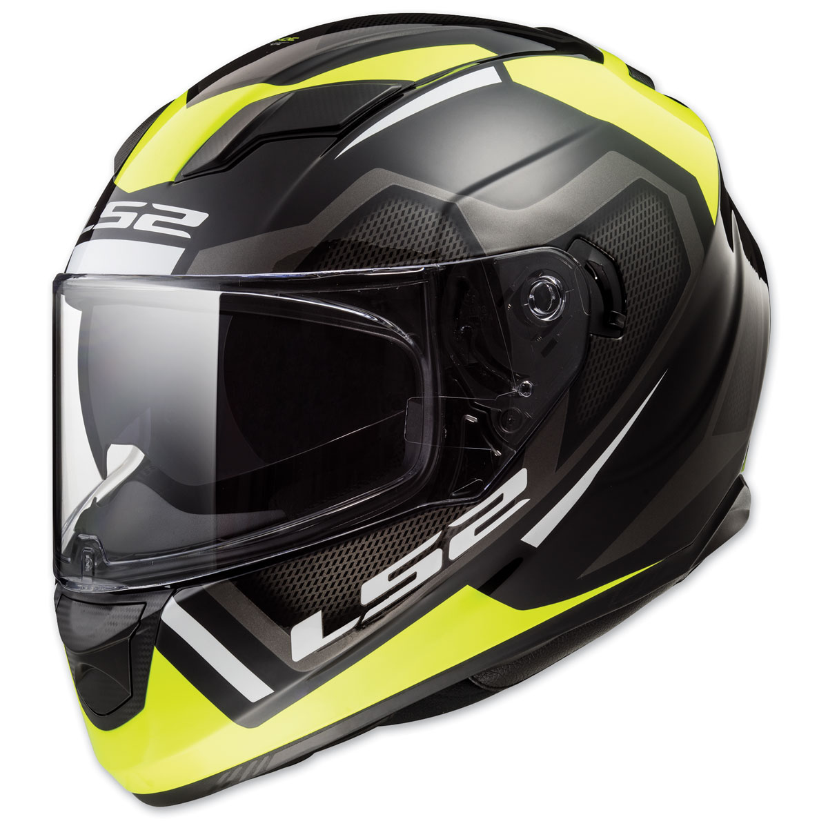 LS2 Stream Axis Black/Yellow Full Face Helmets