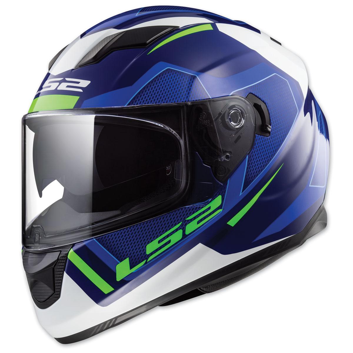 LS2 Stream Axis Blue Full Face Helmets