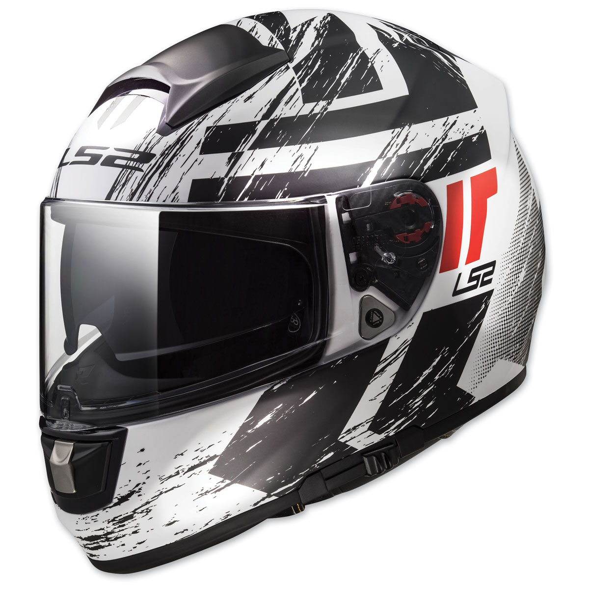 LS2 Citation Hunter White/Red Full Face Helmet