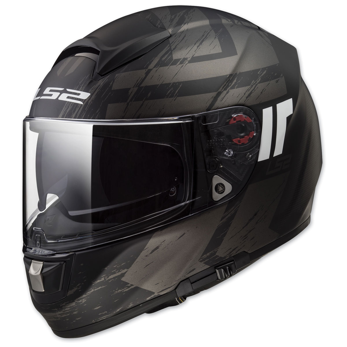 LS2 Citation Hunter Matte Black Full Face Helmet