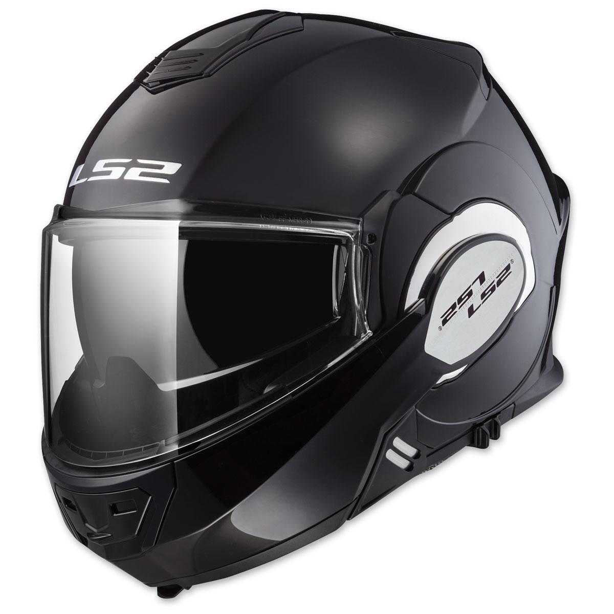 LS2 Valiant Gloss Black Modular Helmet