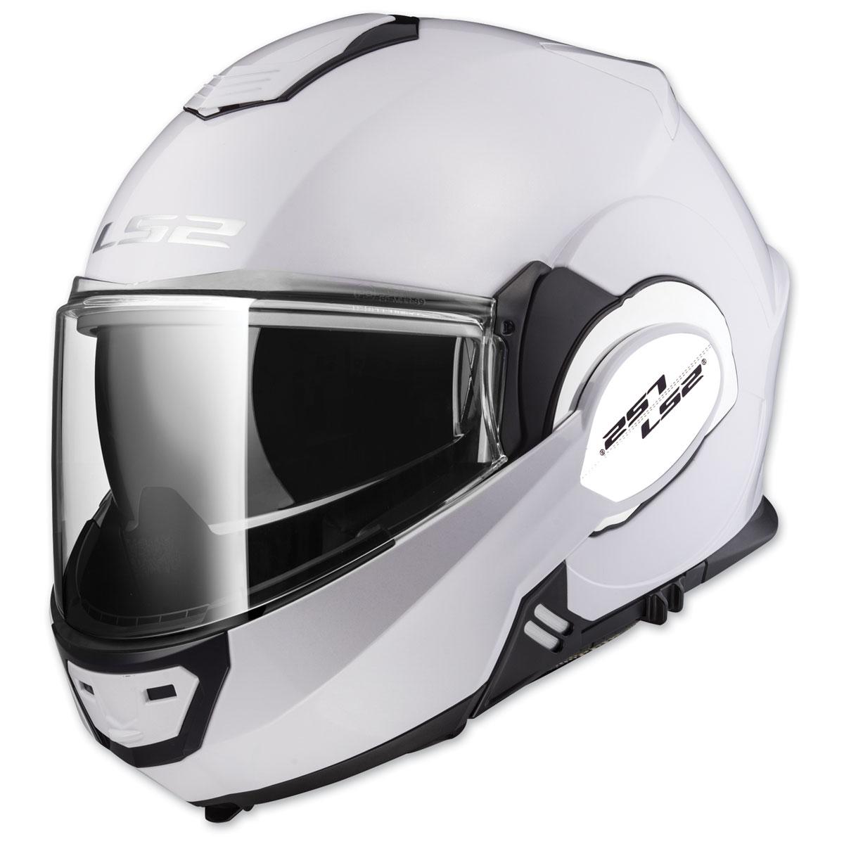 LS2 Valiant White Modular Helmet