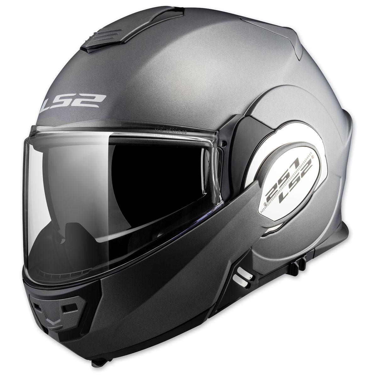 LS2 Valiant Matte Titanium Modular Helmet