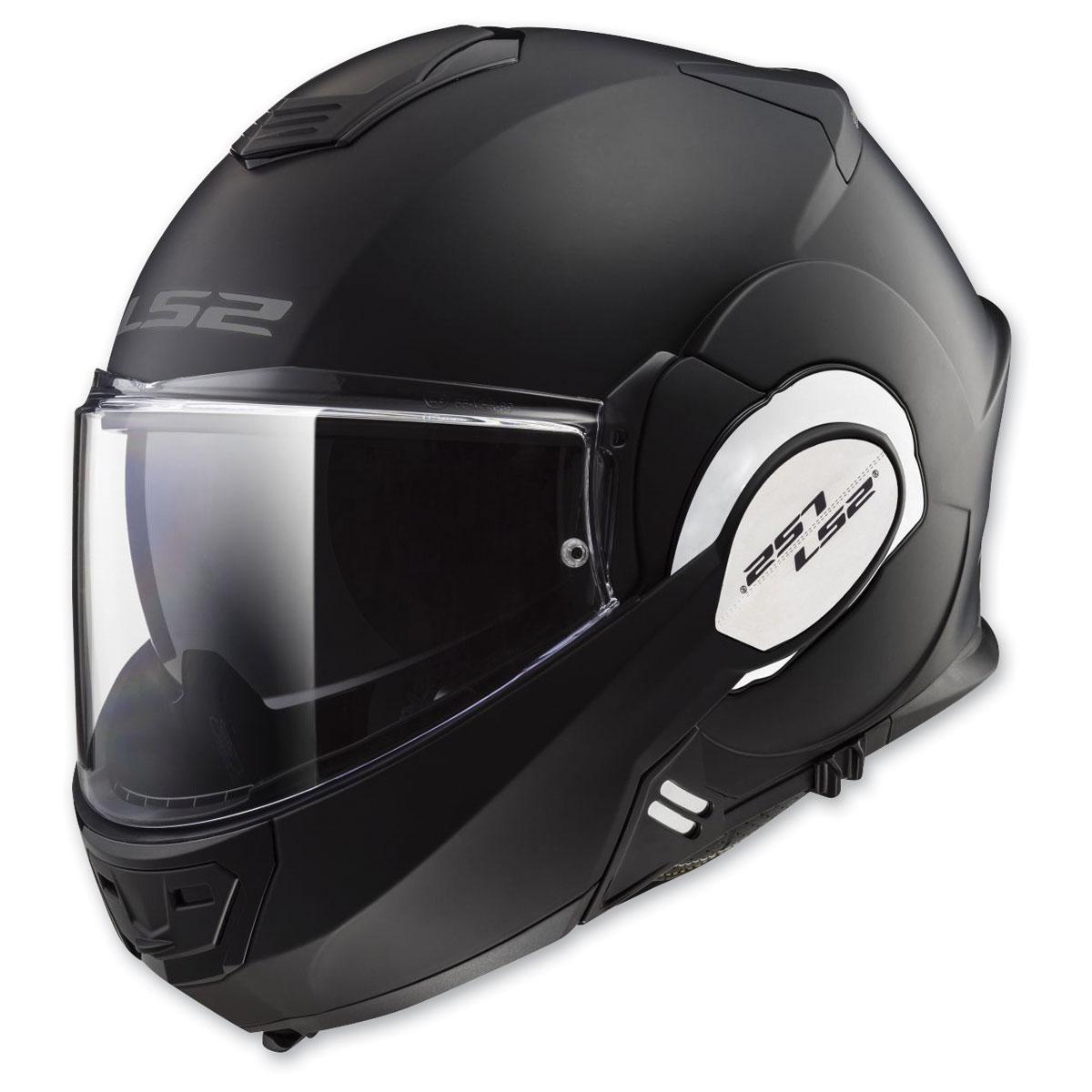 LS2 Valiant Black Chrome Modular Helmet
