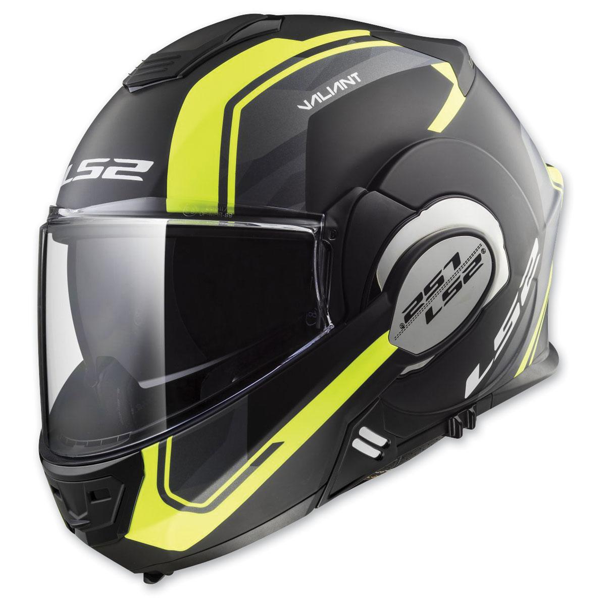 LS2 Valiant Line Matte Black/Glow Modular Helmet
