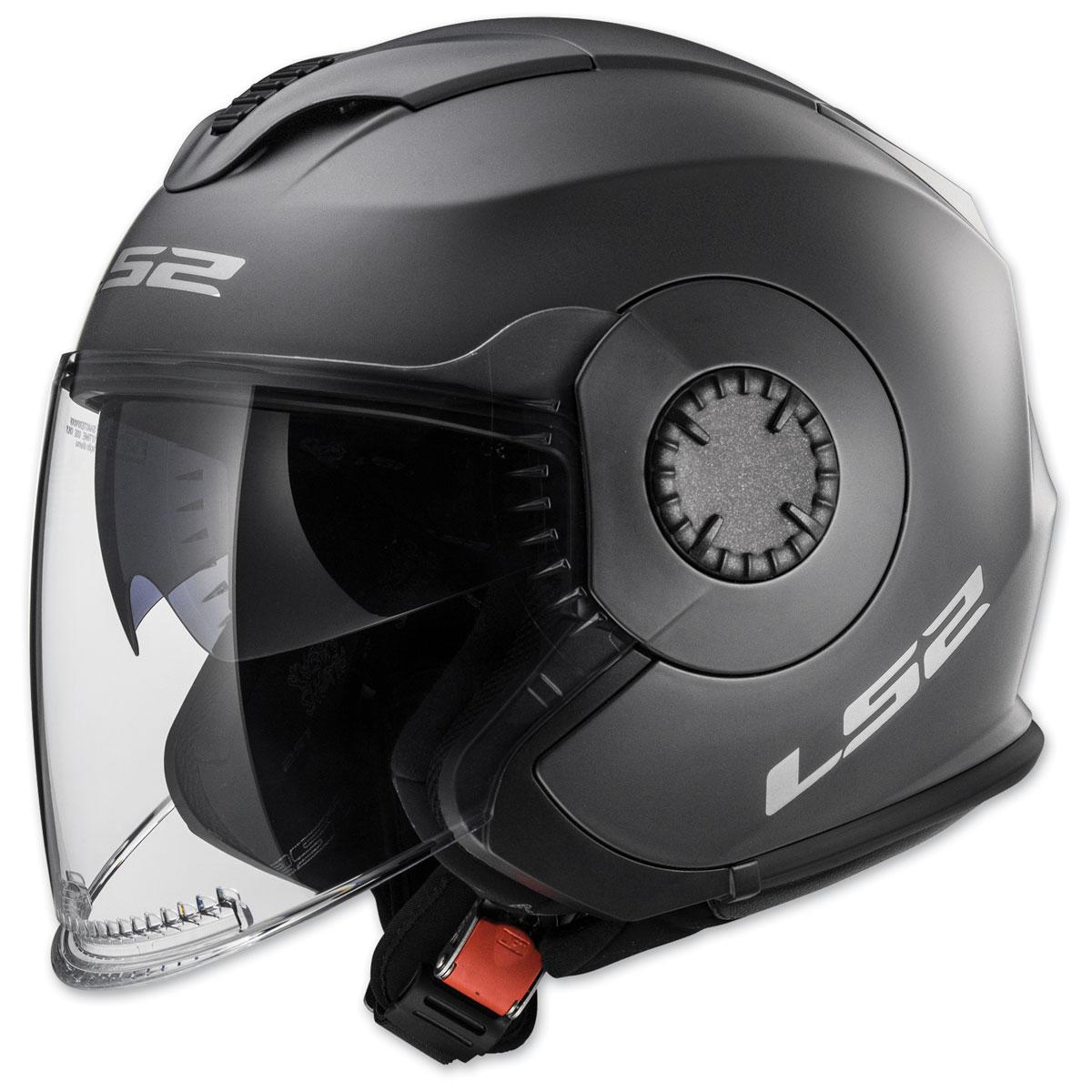 LS2 Verso Matte Titanium Open Face Helmet
