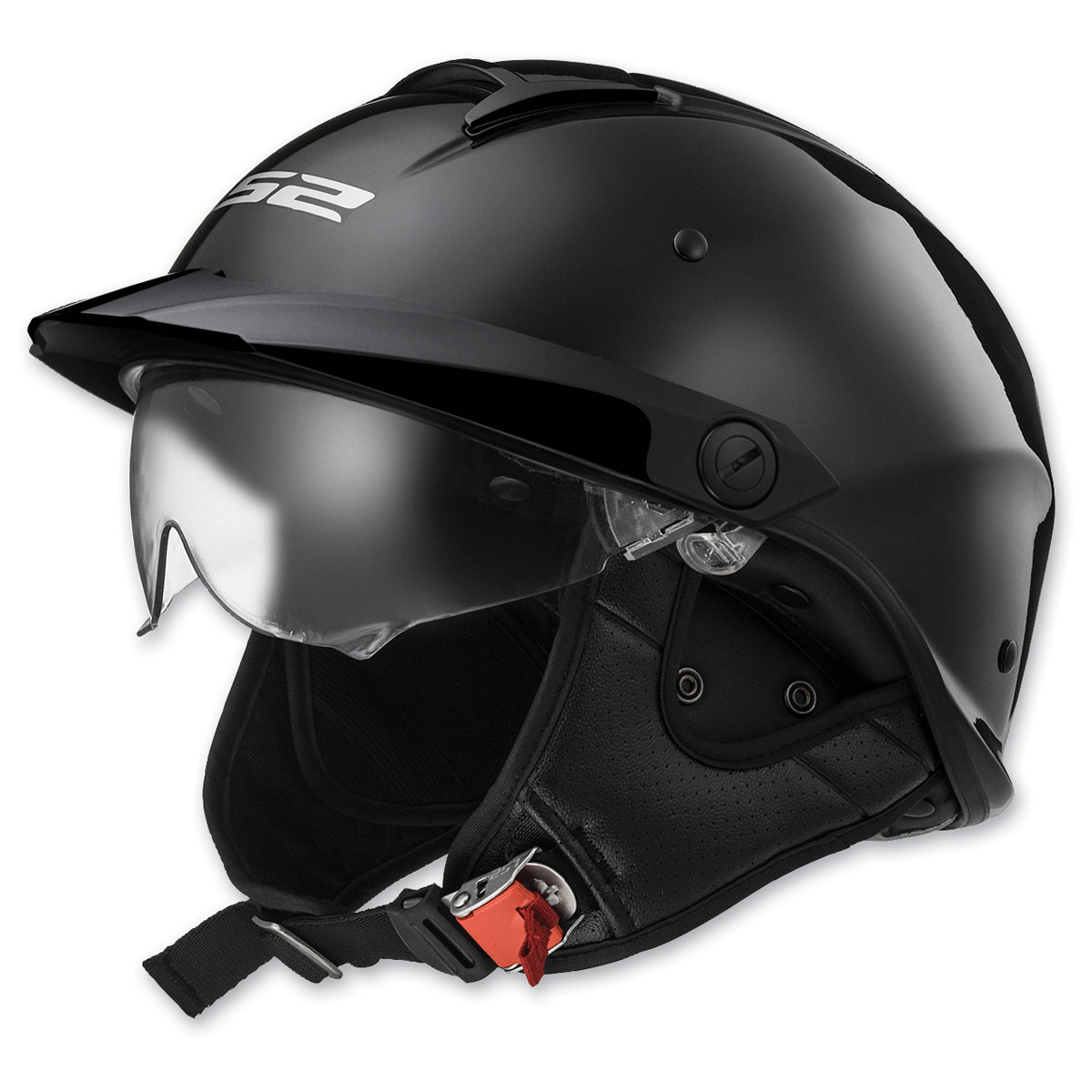 LS2 Rebellion Black Chrome Half Helmet