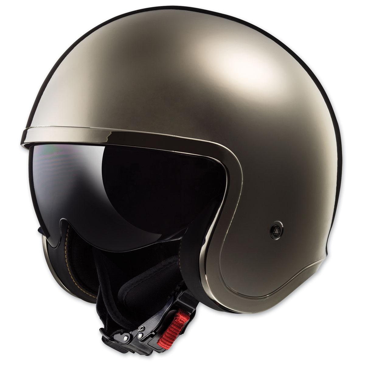 LS2 Spitfire Black Chrome Open Face Helmet