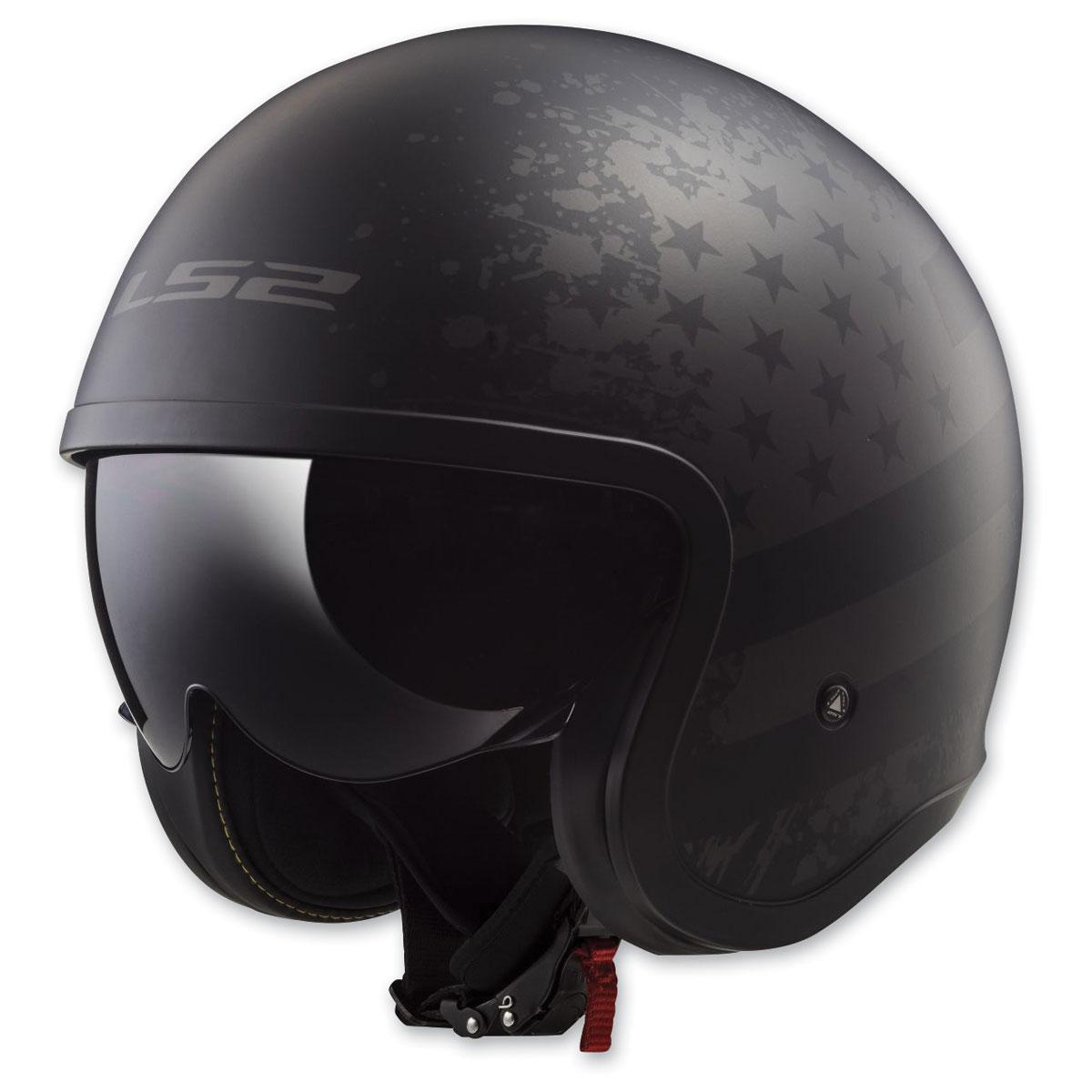LS2 Spitfire Black Flag Matte Black Open Face Helmet