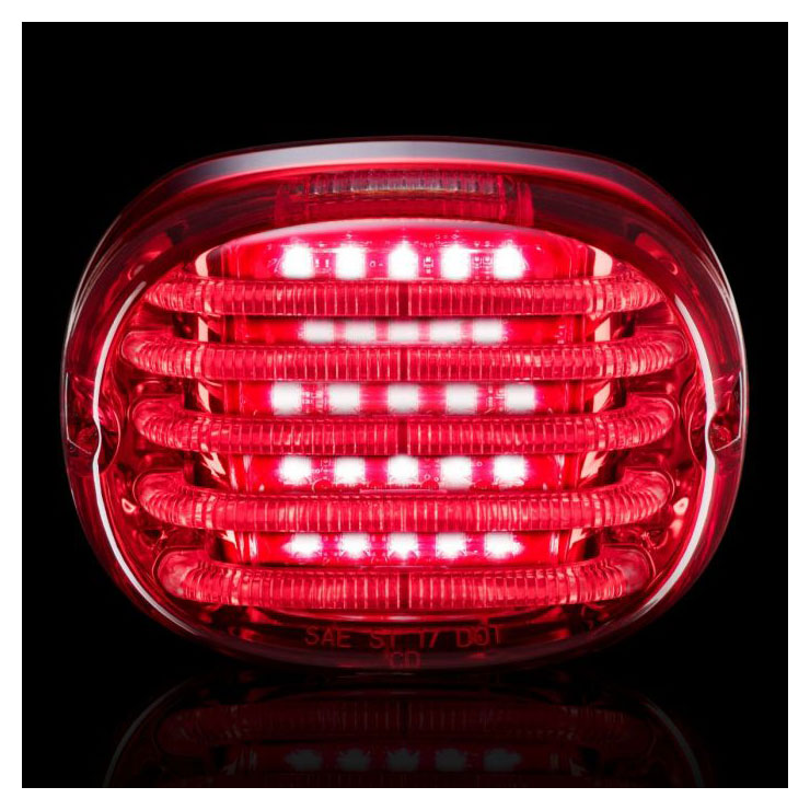 Custom Dynamics ProBEAM Low Profile LED Taillight w//Window Red PB-TL-LPW-R