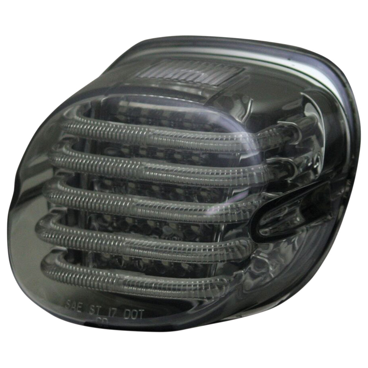 Smoke Low Profile LED Taillights w// Tag Lamp For Harley Electra Glide Fat Boy Lo