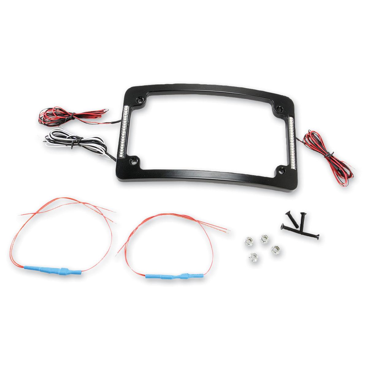 Custom Dynamics Black Tri-Radius All-In-One LED License Plate Frame ...