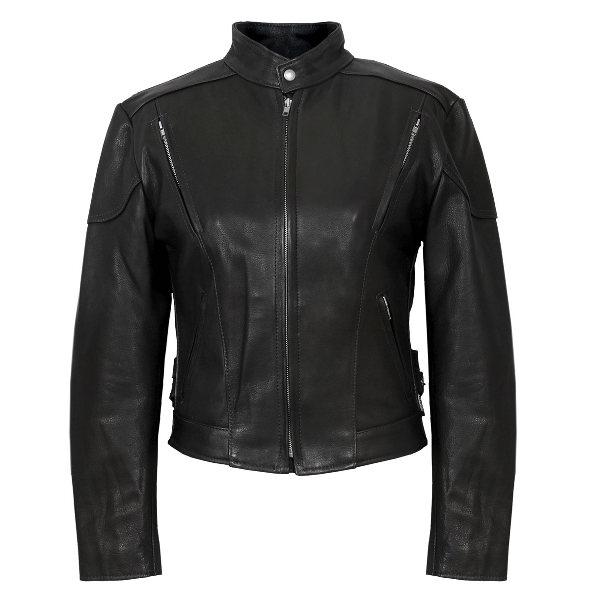 Hot Leathers Women's USA Made Vented Black Leather Jacket
