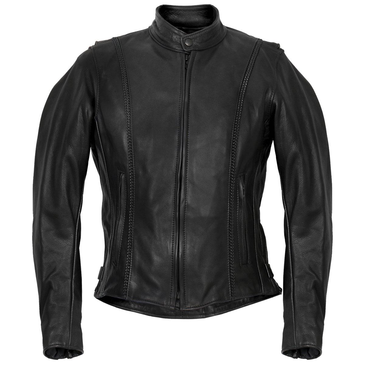 Hot Leathers Women's USA Made Braided Black Leather Jacket