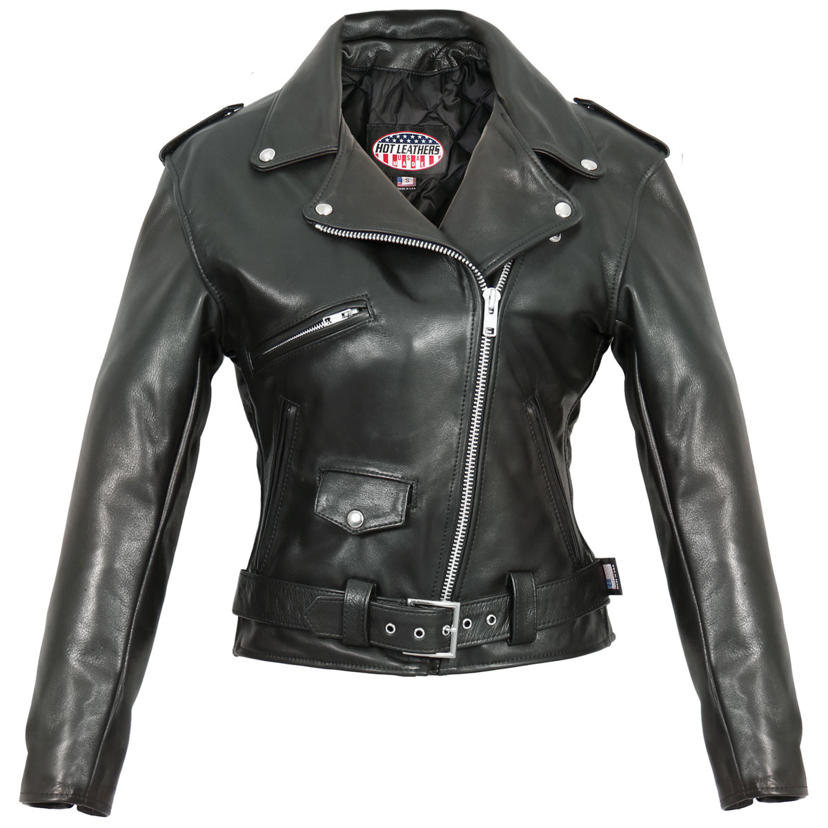 Hot Leathers Women's USA Made Classic Black Leather Jacket