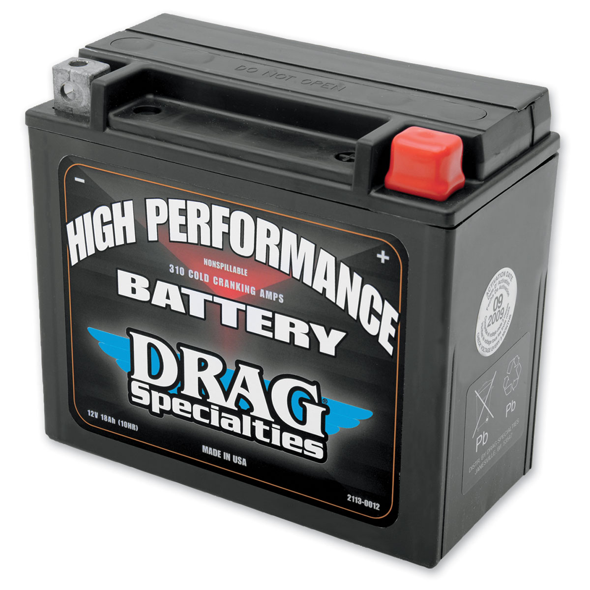Drag Specialties High Performance Battery - 2113-0012 on