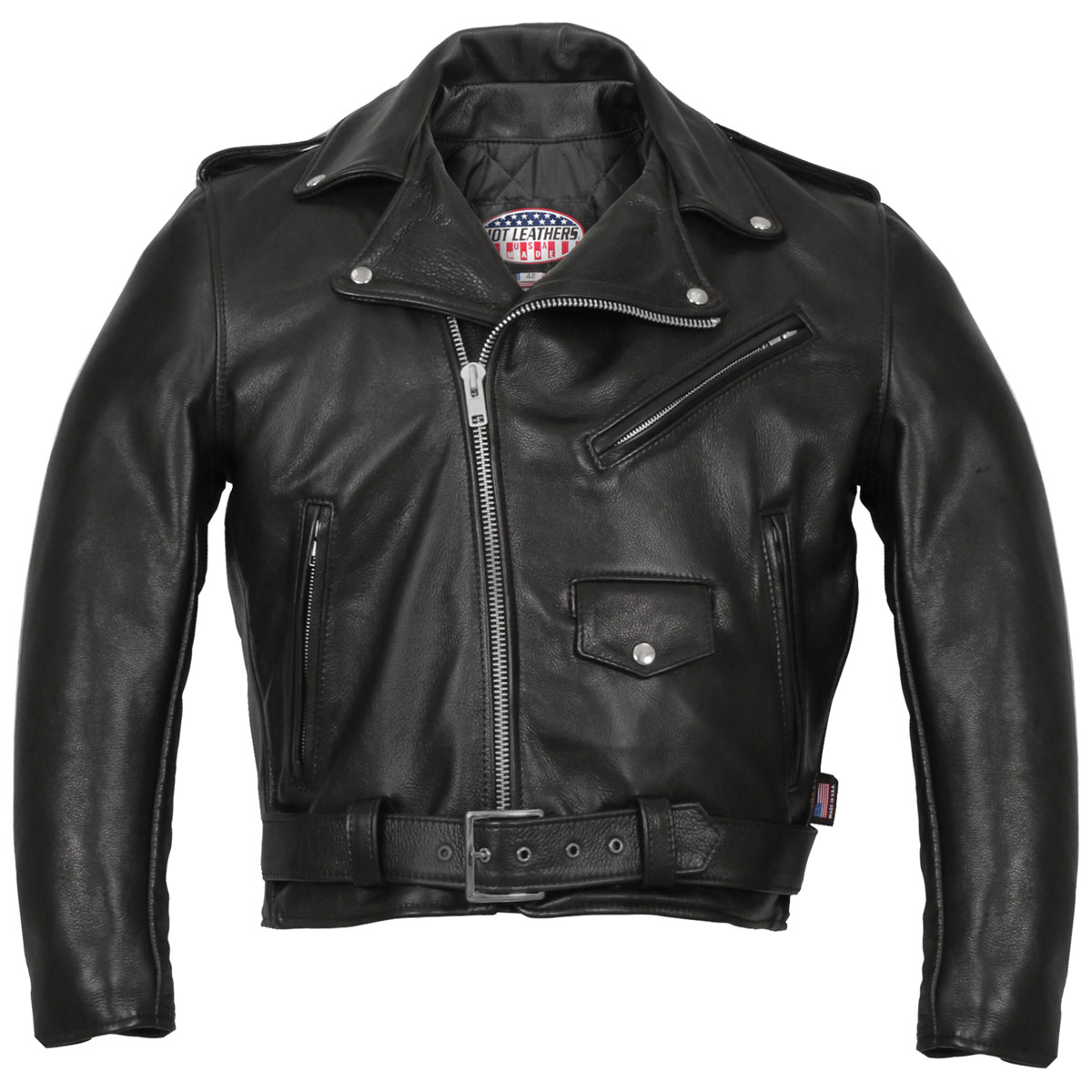 Hot Leathers Men's USA Made Classic Black Leather Jacket