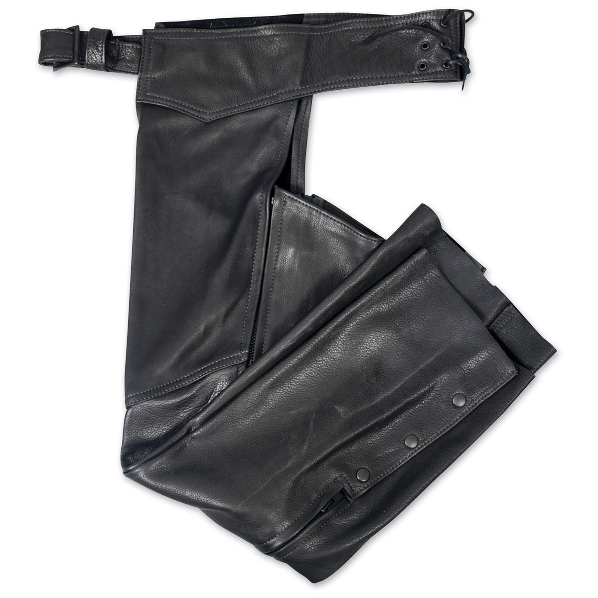 Hot Leathers Women's USA Made Black Leather Chaps