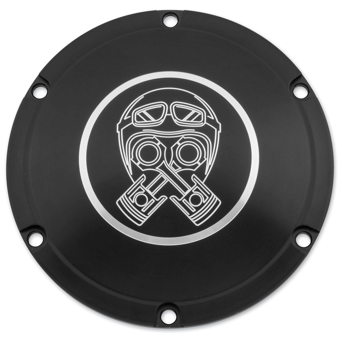 Brass Balls Cycles Piston Helmet Black Derby Cover