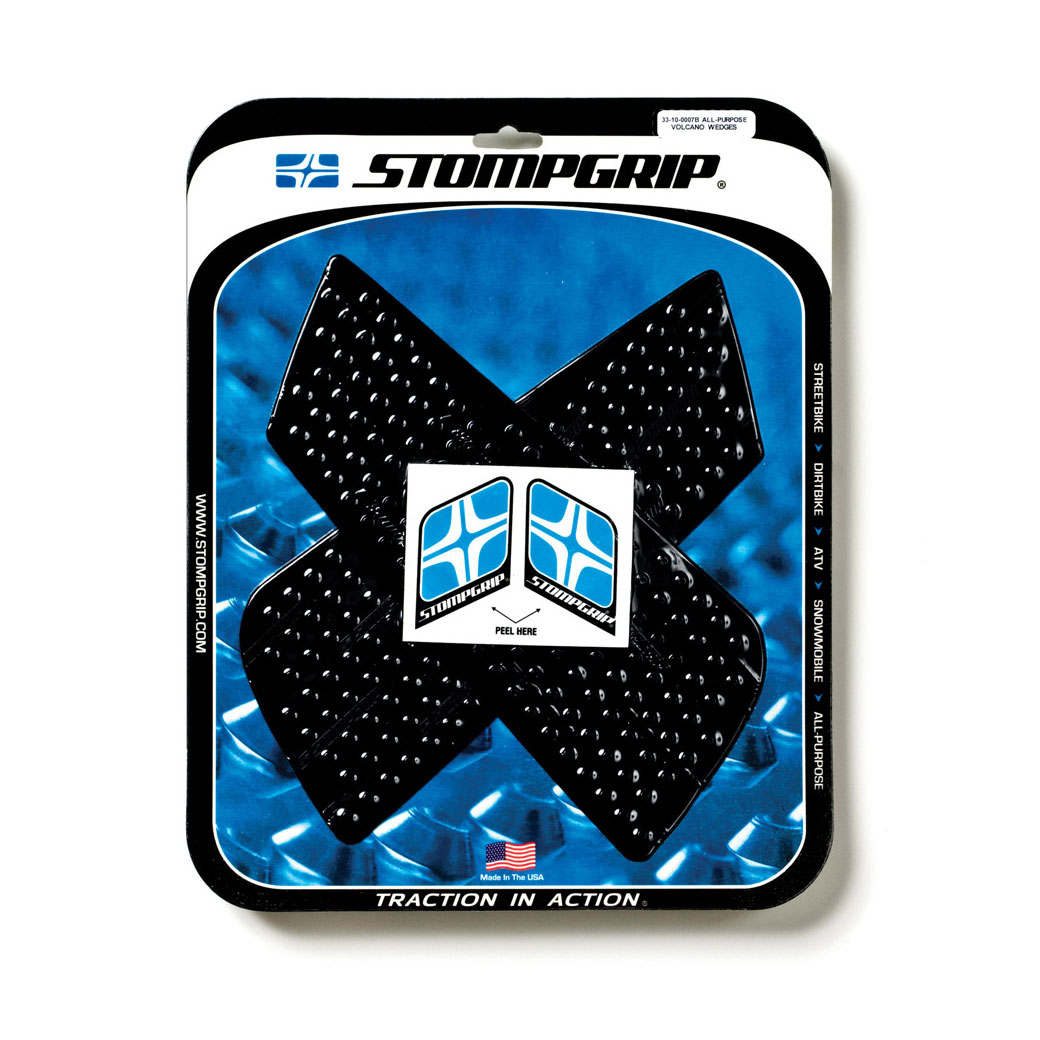 Stompgrip Tank Kit Volcano Black Universal Wedges
