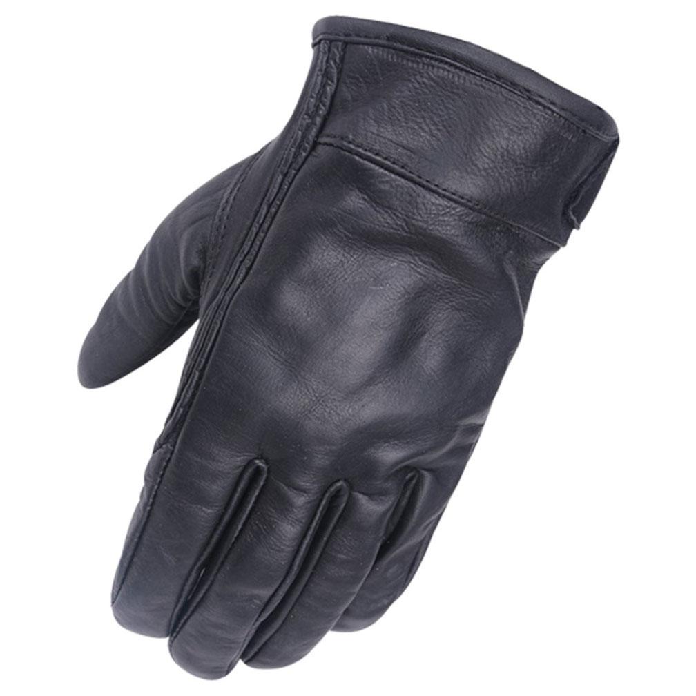 Vance Leathers Gel Palm Black Riding Gloves