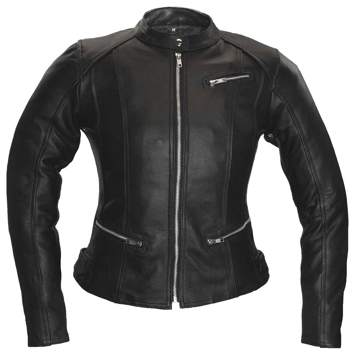 Vance Leathers Women's 3 Pocket Black Leather Jacket