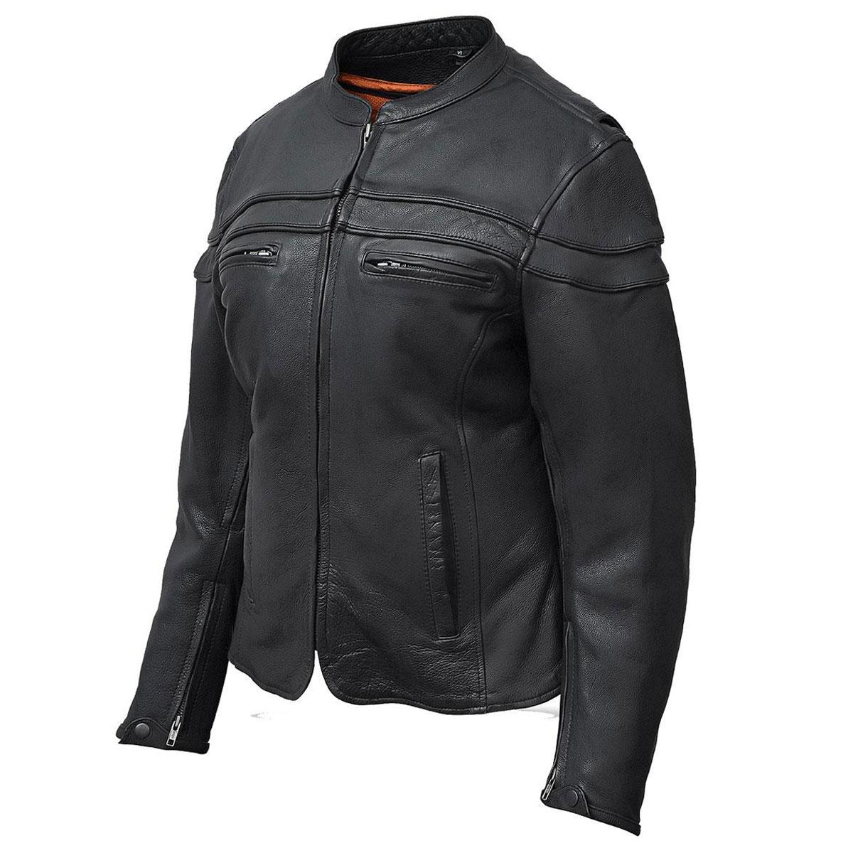 Vance Leathers Women's Racer Black Leather Jacket