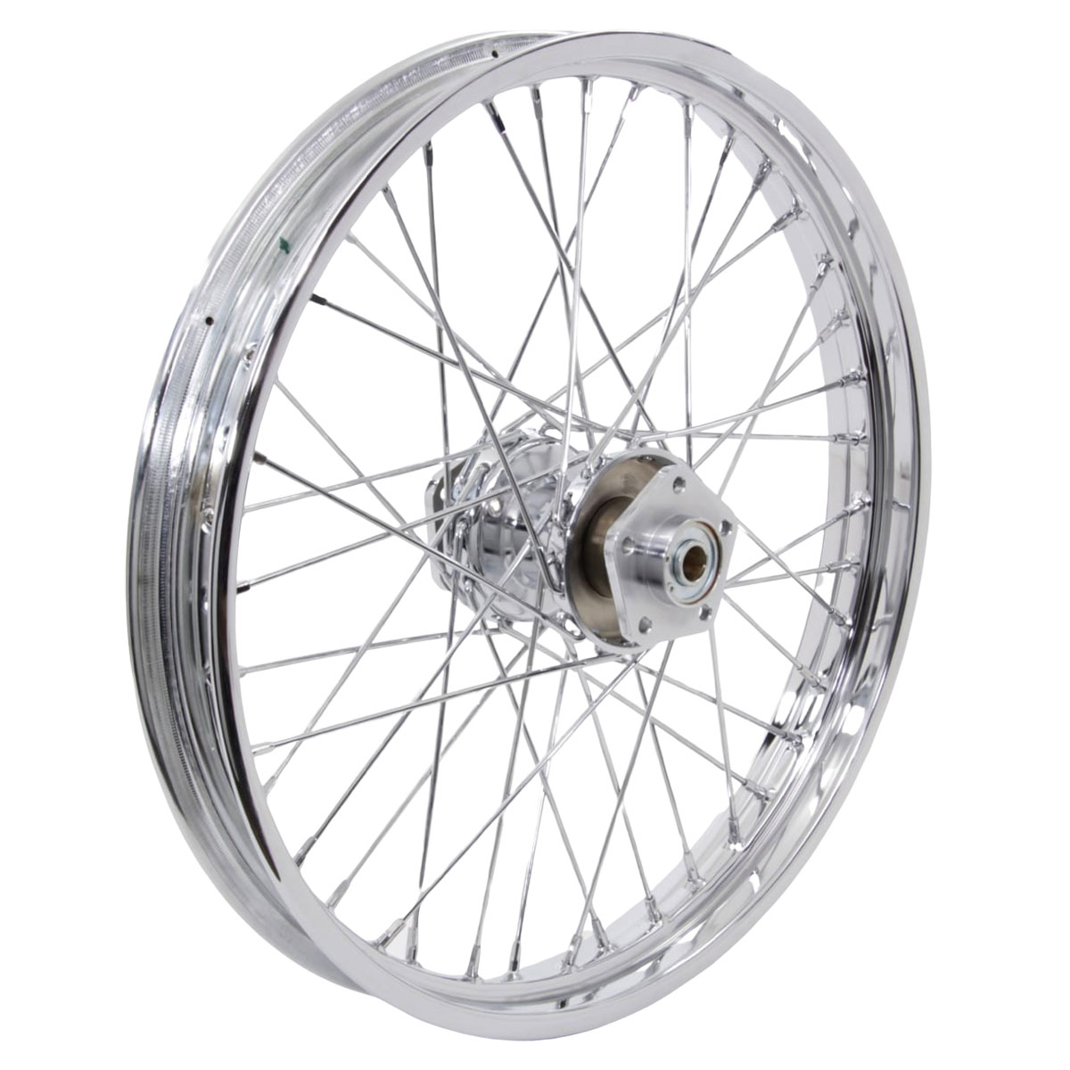 Chrome 40 Spoke Wheel, 21 x 2.15