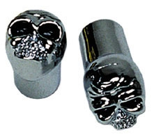 J&P Cycles® Chrome Skull Valve Stem Cap