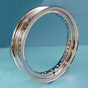 V-Twin Manufacturing Chrome Replica Rim, 16 x 3