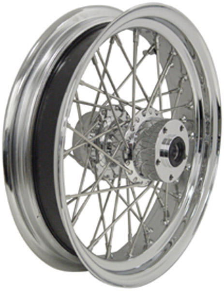 Chrome  Rear Wheel, 16 x 3.5