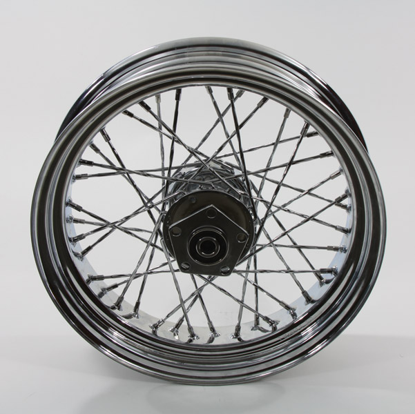 Chrome Twisted Spoke Rear Wheel 16 x 4.00