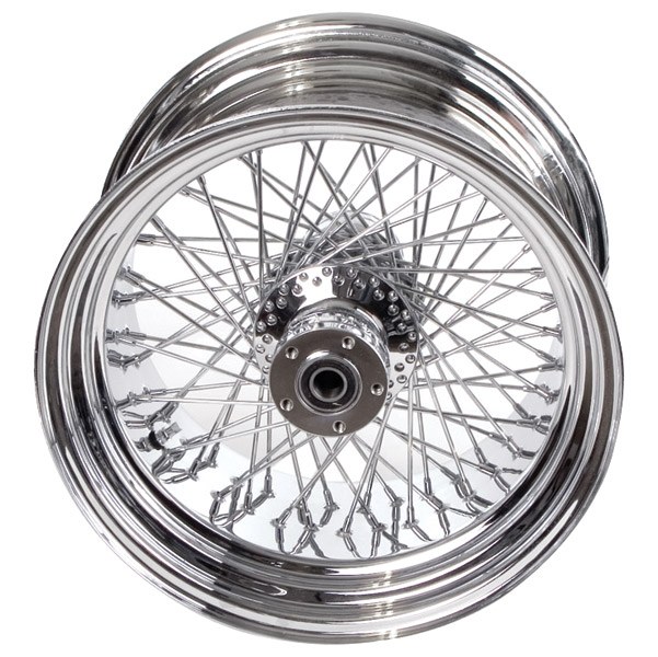 Paughco Chrome 80-Spoke Wheel Assembly for Wide Tire Applications, 18 x 5.50
