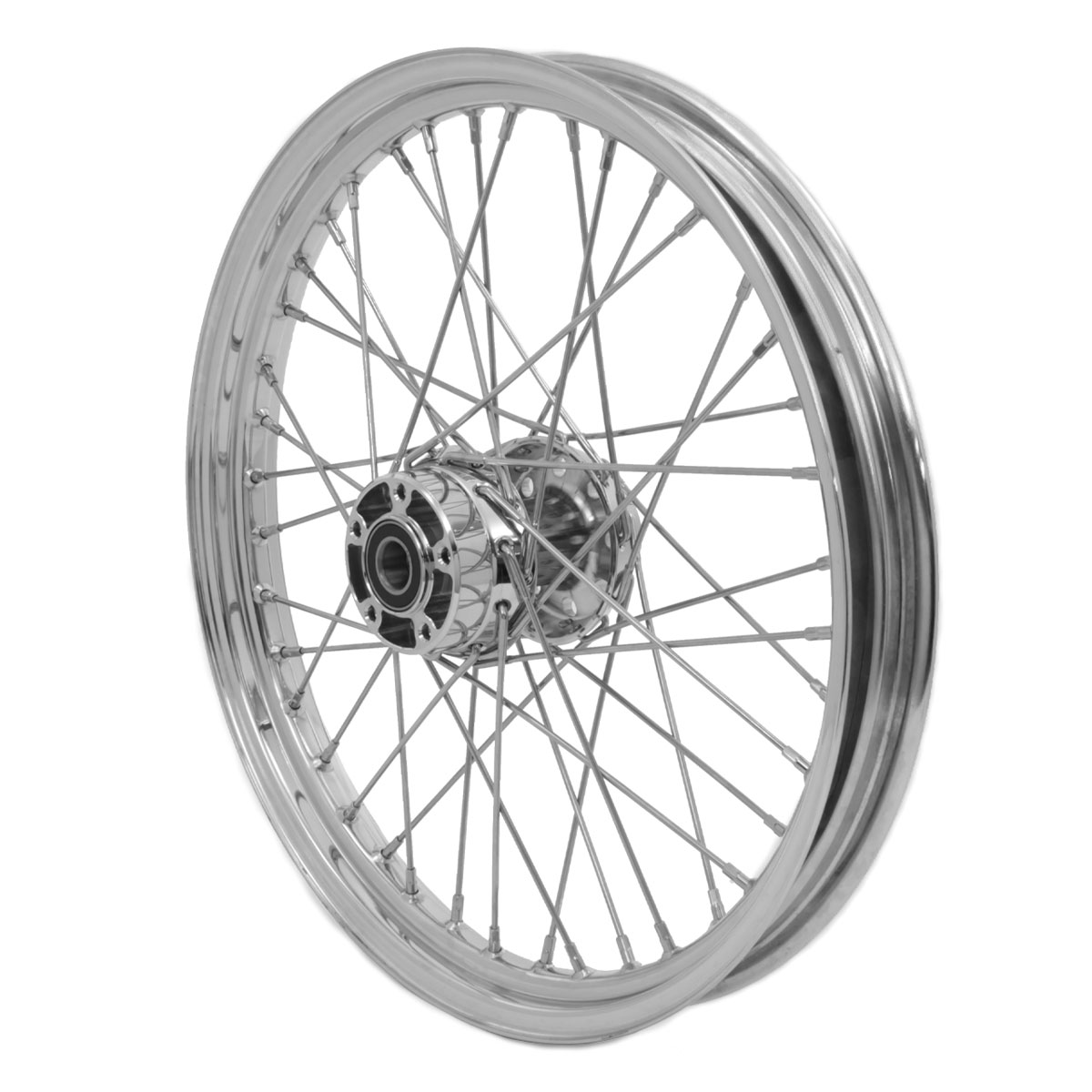 V-Twin Manufacturing Replica 40 Spoke Front Wheel, 21 x 2.15″