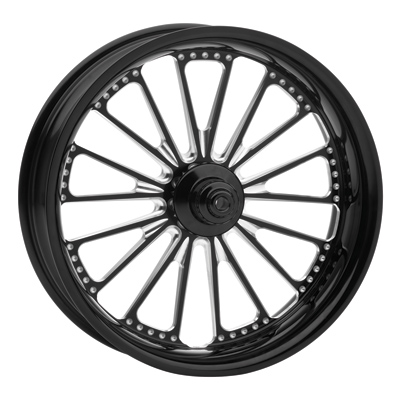 Roland Sands Design Contrast Cut Domino Front Wheel, 18 x 3.5