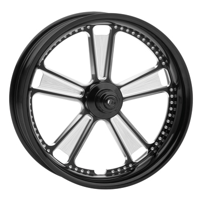 Roland Sands Design Contrast Cut Judge Front Wheel with ABS, 21 x 3.5