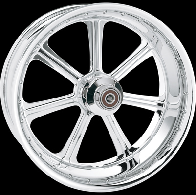 Roland Sands Design Diesel Chrome Front Wheel with ABS, 21 x 3.5