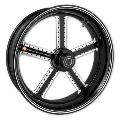 Roland Sands Design Mission Contrast Cut Front Wheel, 16 x 3.5