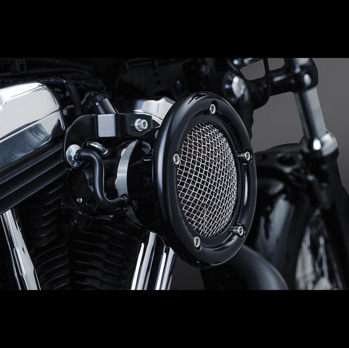 Air Intake Fuel Systems Jp Cycles 1997 Harley Sportster Carb Diagram Kuryakyn Black Velociraptor Cleaner Kit