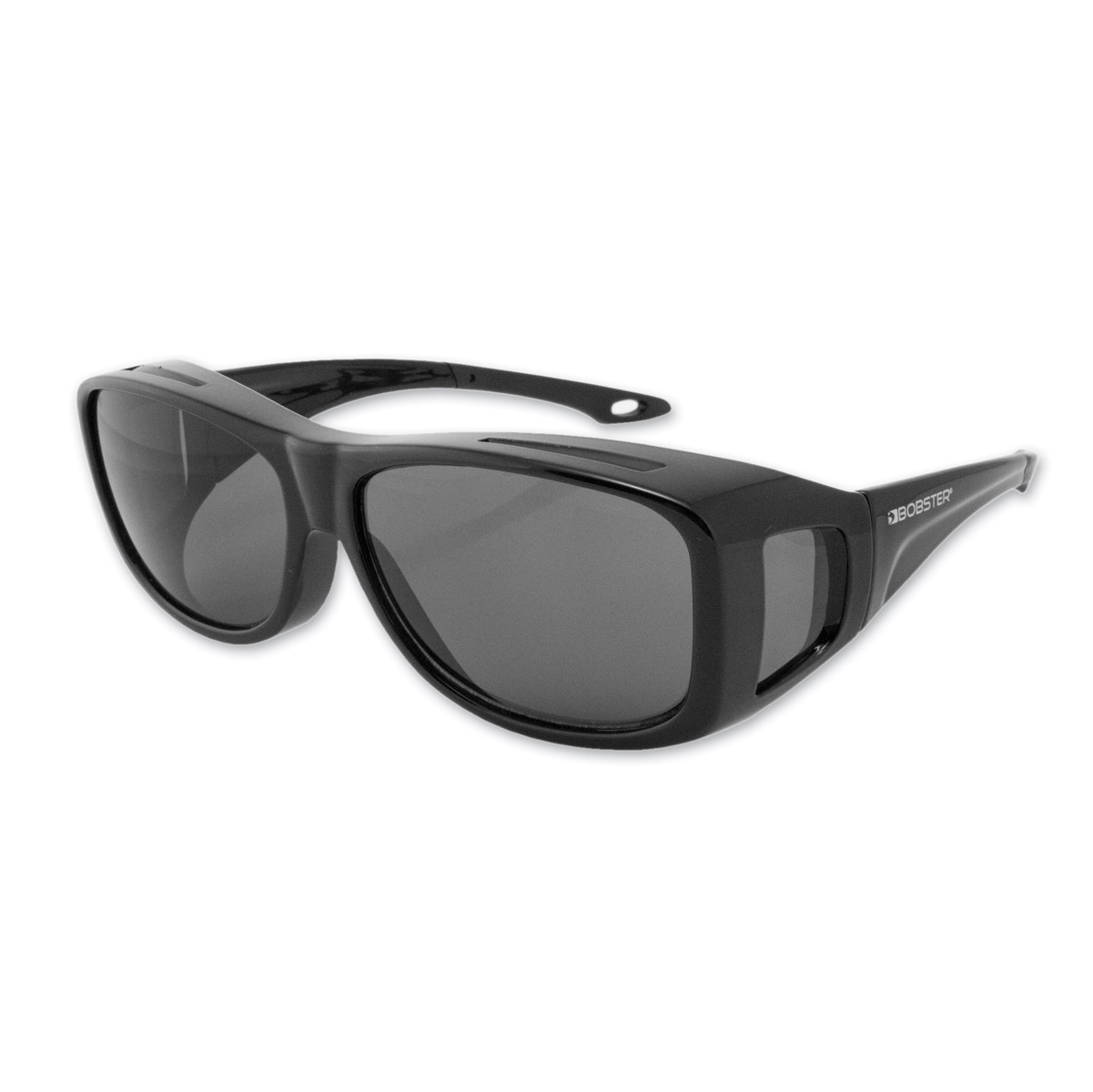 Bobster Condor 2 Large Black Frame Sunglasses with Smoked Lenses