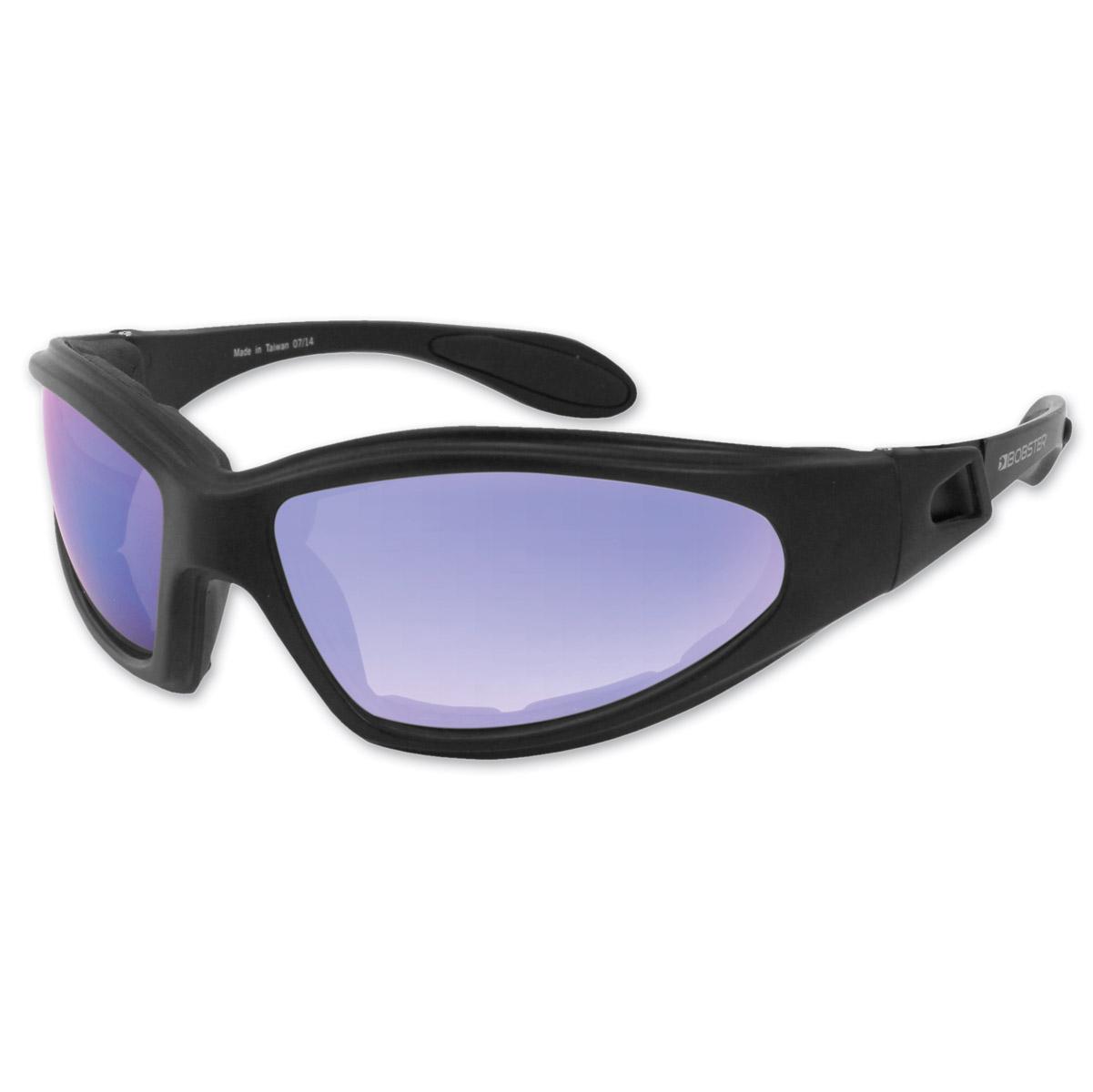 1db69f1f2600 Bobster GXR Black Frame Sunglasses w  Smoked Blue Mirror Lens ...