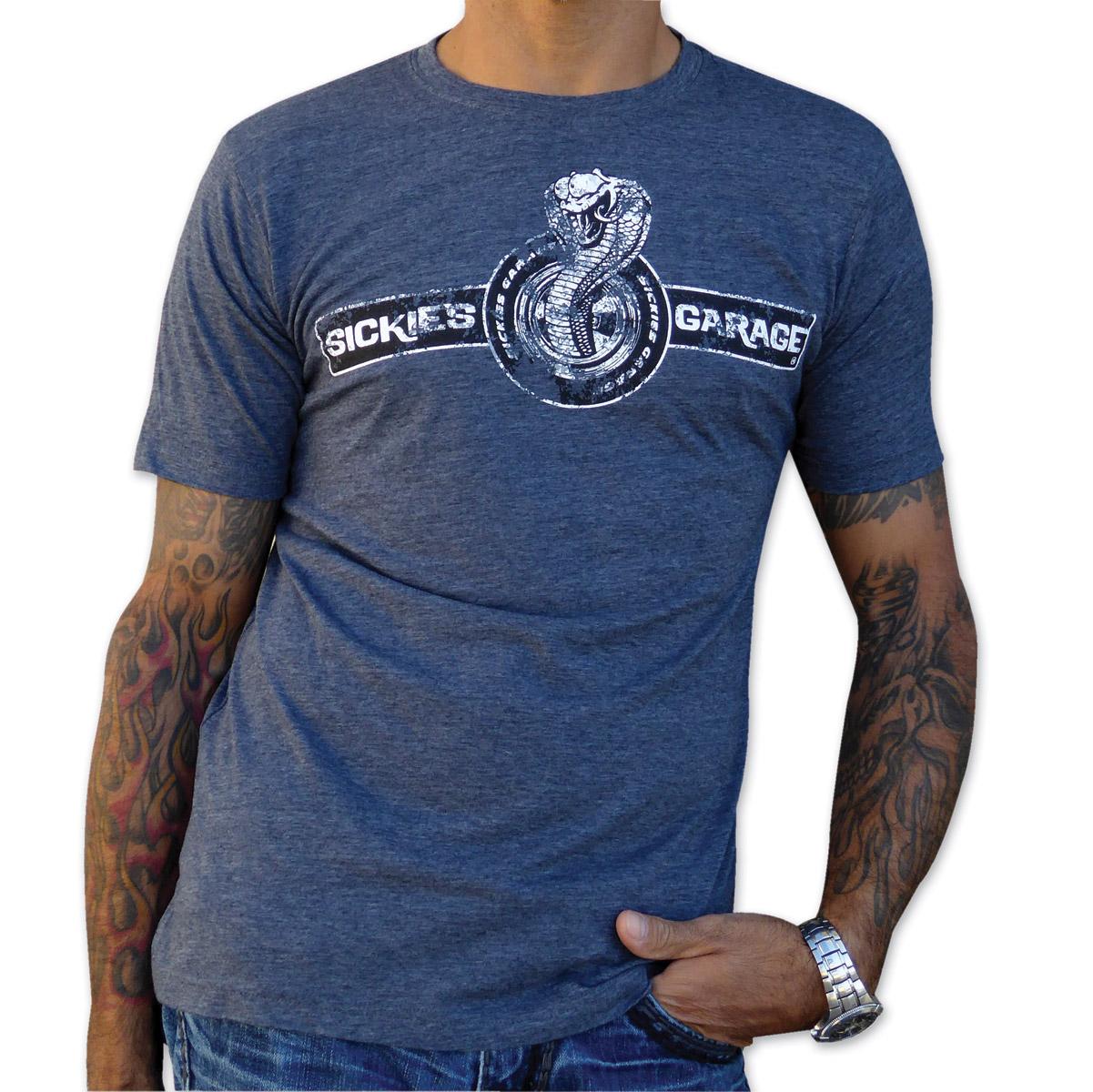Sick Boy Men's Sickies Garage Cobra Charcoal T-Shirt