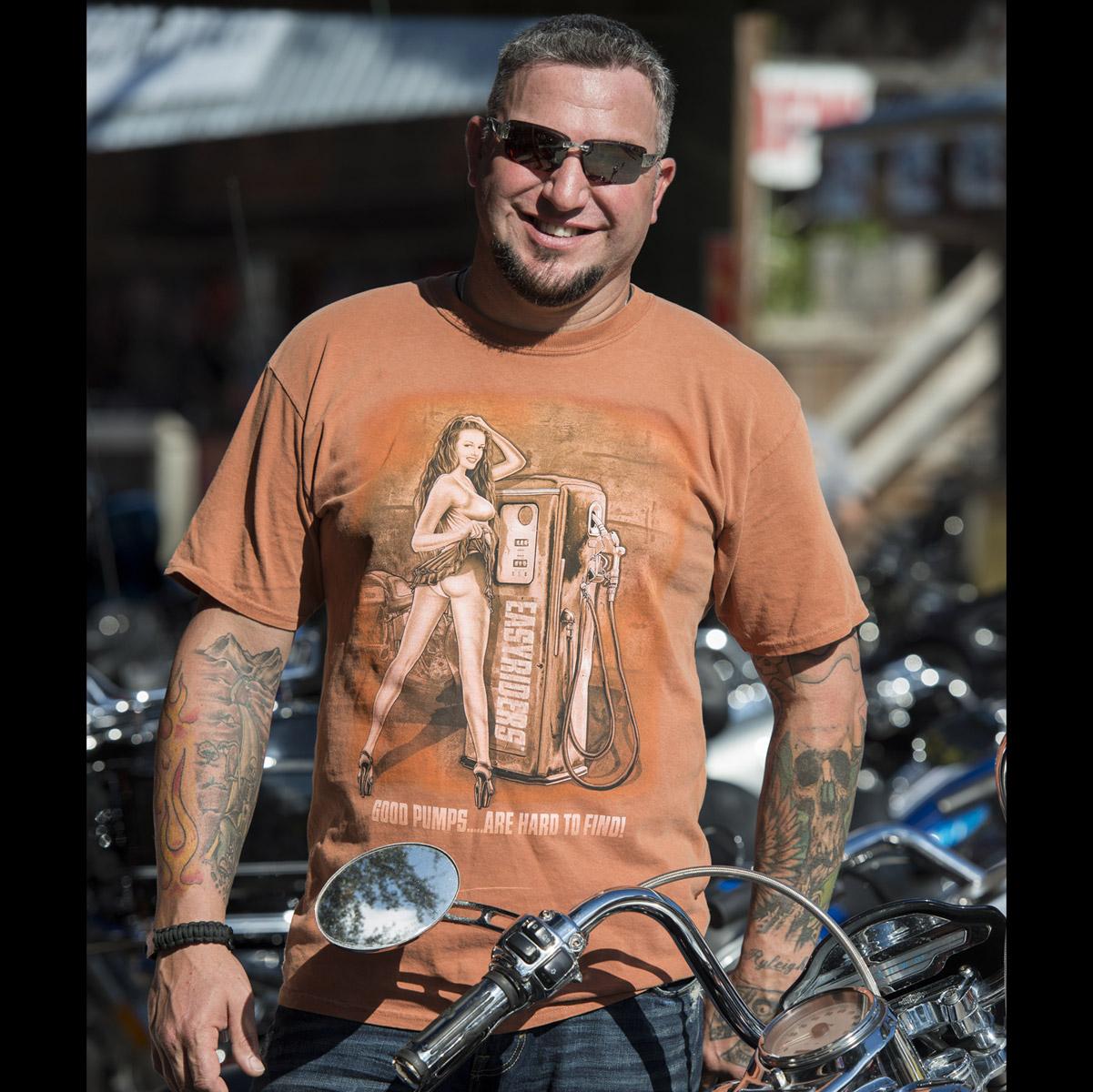 Easyriders Men's Good Pumps Orange T-Shirt