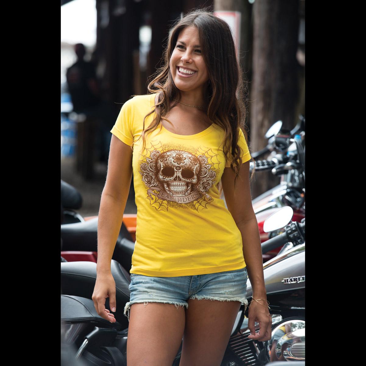 Easyriders Women's Rise and Shine Yellow T-Shirt