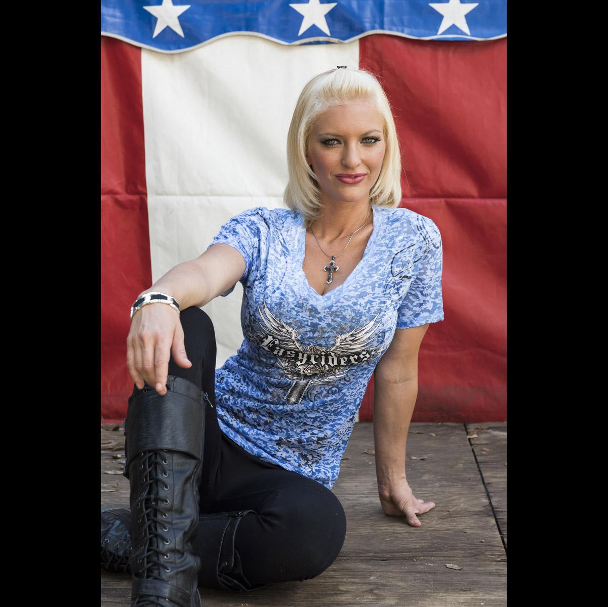 Easyriders Women's Afterlife Burnout Indigo T-Shirt