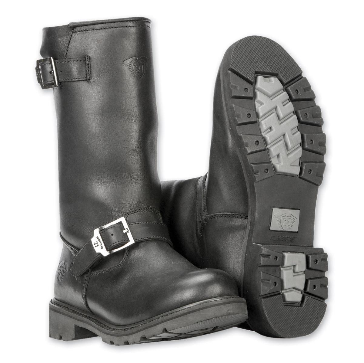 Highway 21 Men's Primary Engineer Black Boots