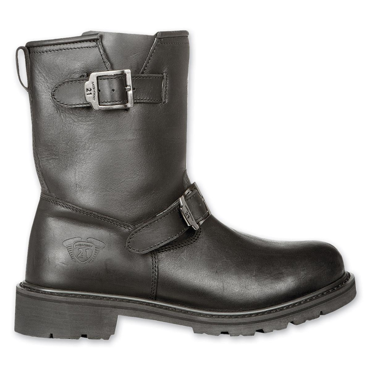Highway 21 Men's Primary Engineer Low Black Boots