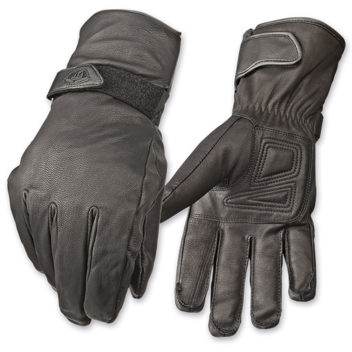 Highway 21 Men's Granite Black Leather Gloves